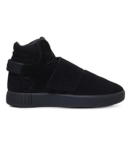 ADIDAS Tubular Invader trainers 9-10 years (Black