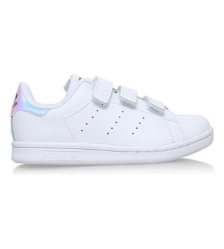 ADIDAS Stan Smith 皮革运动鞋 4-9 岁(白色/其他