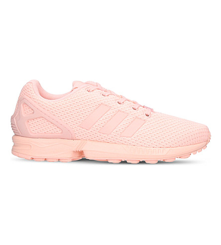 ADIDAS ZX Flux mesh trainers 9-11 years (Pale+pink