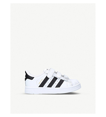 ADIDAS Superstar leather trainers (White/blk