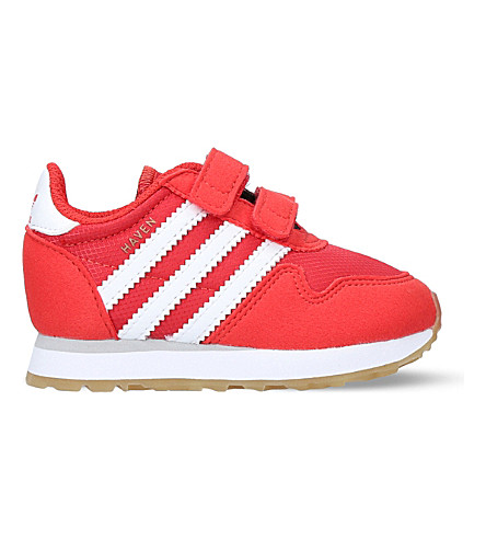 ADIDAS Haven suede and mesh trainers 6 months - 5 years (Red
