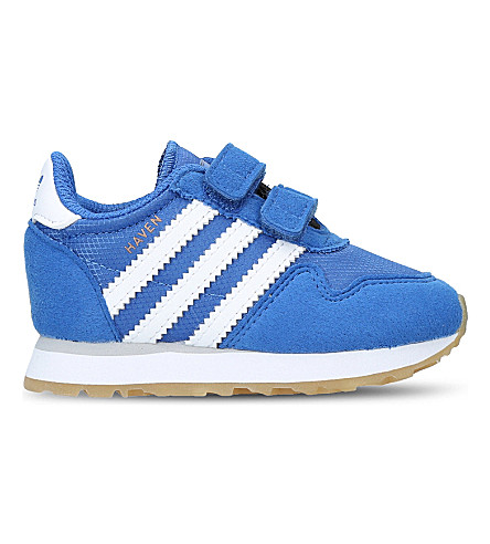 ADIDAS Haven suede and mesh trainers 6 months - 5 years (Blue