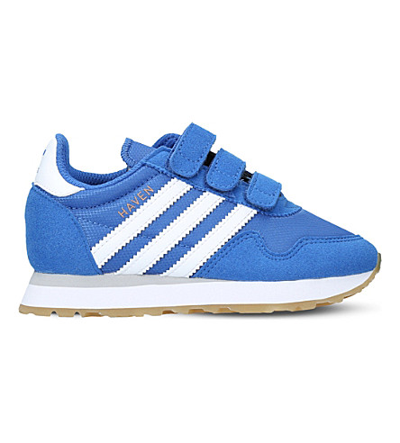 ADIDAS Haven suede and mesh trainers 5-8 years (Blue