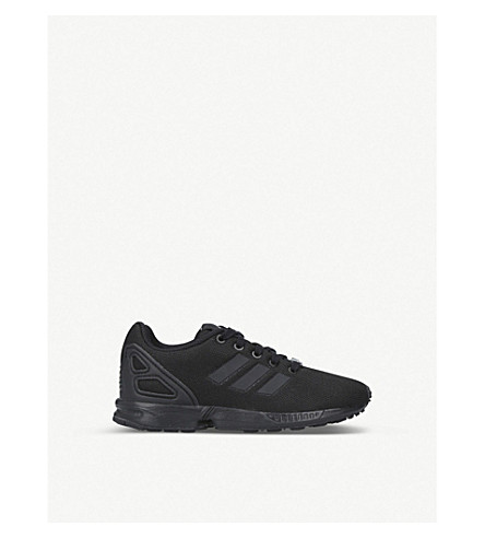 ADIDAS ZX Flux C mesh trainers 5-8 years (Black