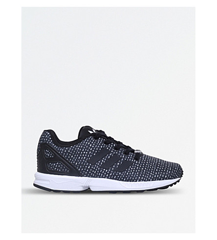 ADIDAS ZX Flux C satin trainers 5-8 years (Blk/other