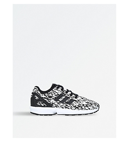 ADIDAS ZX Flux C textile trainers 5-8 years (White/blk