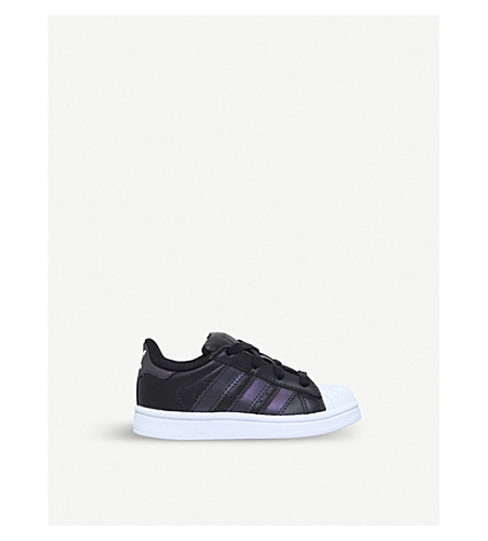 ADIDAS Superstar leather trainers 1-5 years (Blk/other