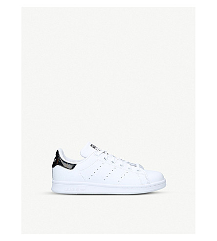 ADIDAS Stan Smith leather trainers 9-11 years (White/blk