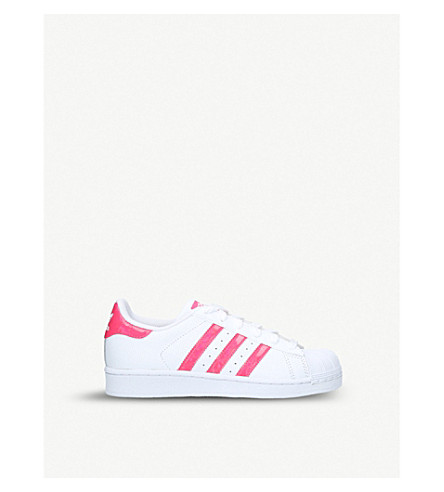 ADIDAS Superstar leather trainers 4-9 years (White/oth