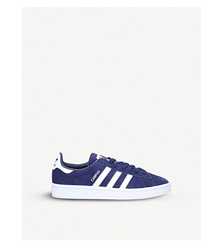 ADIDAS Campus low-top suede trainers 9-11 years (Navy
