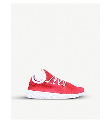 ADIDAS Pharrell Williams Tennis HU mesh trainers 4-9 years (Red/other