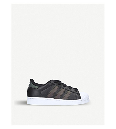 ADIDAS Superstar leather trainers 4-9 years (Blk/other