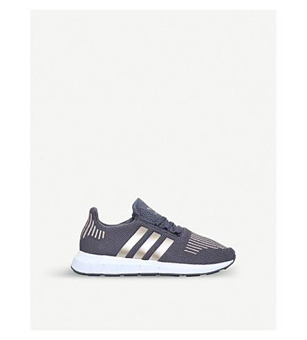 ADIDAS Swift Run C stretch-mesh trainers 5-9 years (Grey