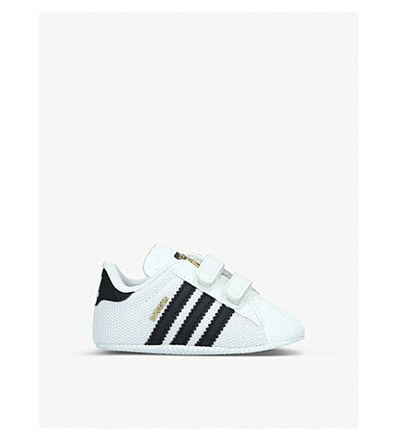 ADIDAS Superstar crib shoes (White/blk