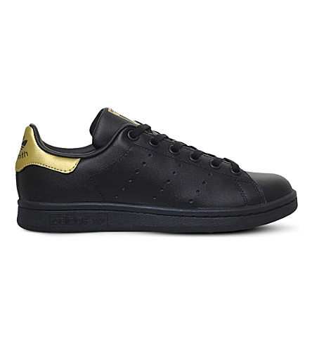 ADIDAS Stan Smith leather trainers 9-10 years (Black