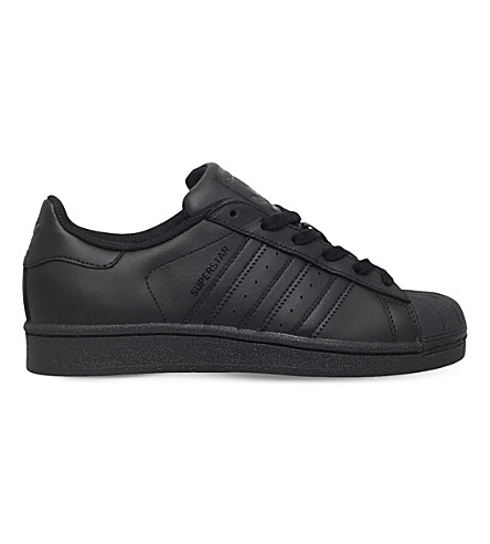 ADIDAS Superstar Foundation leather trainers 2-9 years (Black