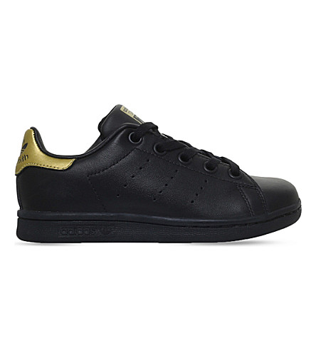 ADIDAS Stan Smith leather trainers 4-9 years (Black