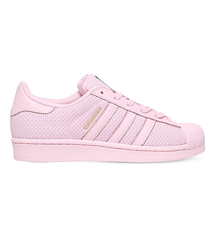 ADIDAS Superstar knitted trainers 9-11 years (Pink