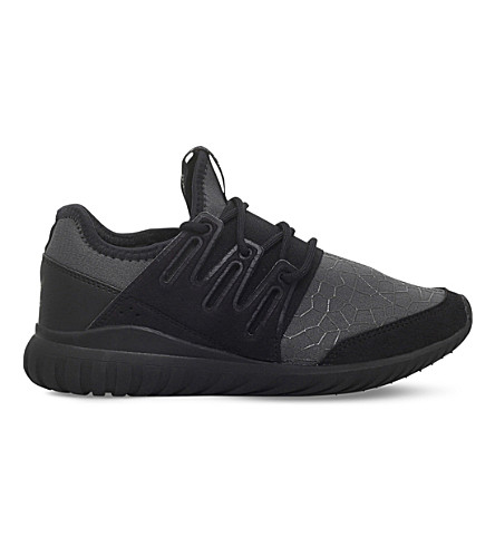 ADIDAS Tubular Radial stretch trainers 9-11 years (Black