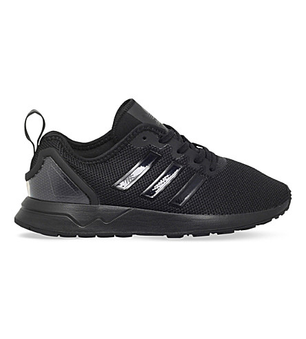 ADIDAS ZX Flux ADV mesh trainers 9-11 years (Black