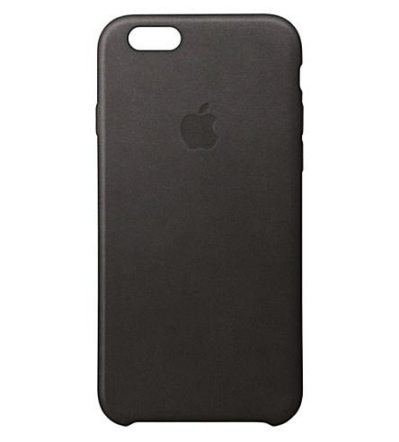 APPLE Leather iPhone 6s case (Black
