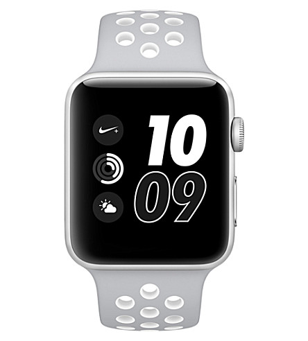 APPLE Series 2 silver and white 42mm Apple Watch Nike+ (Silver+white