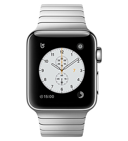 APPLE Series 2 38mm Stainless Steel Case with Silver Link Bracelet (Silver