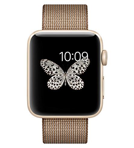 APPLE Series 2 gold aluminium 42mm apple watch (Coffee/caramel