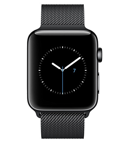 APPLE Series 2 42mm Space Black Stainless Steel Case Space Black Milanese Loop (Space+black