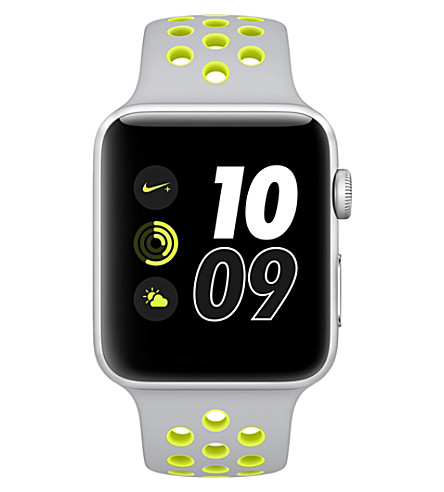 APPLE Series 2 silver and volt 42mm Apple Watch Nike+ (Silver+volt