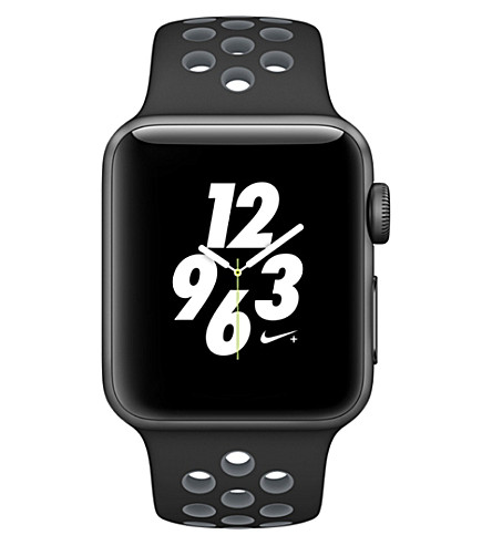 APPLE Series 2 black and cool grey 38mm Apple Watch Nike+ (Space+gray+black