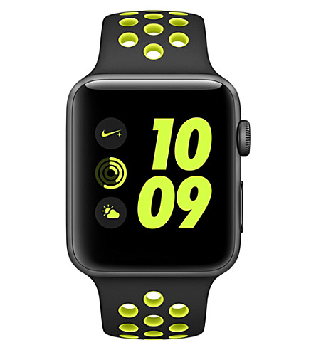 APPLE Series 2 black and volt 42mm Apple Watch Nike+ (Space+gray+volt