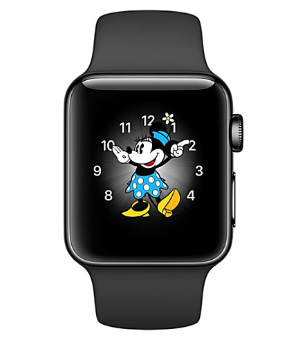 APPLE Series 2 space black stainless steel 38mm Apple Watch (Space+black