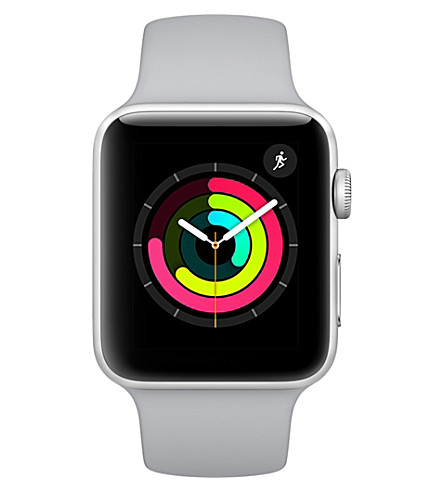 APPLE Apple Watch Series 3 GPS + Cellular Silver Aluminium Case with Fog Sport Band 42mm (Fog