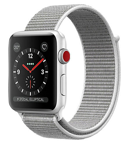 APPLE Apple Watch Series 3 Cellular + GPS 42mm Silver aluminium case, Seashell Sport Loop (Seashell