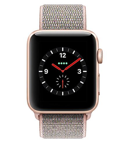 APPLE Series 3 gold aluminium 42mm apple watch (Pink+sand