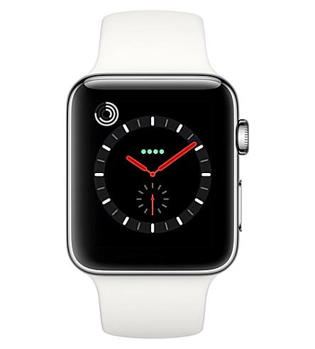 APPLE Series 3 stainless steel 38mm apple watch (Black