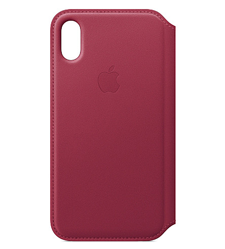 APPLE Folio iPhone X leather case (Berry