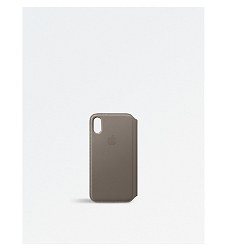 APPLE iPhone X Leather Folio (Taupe