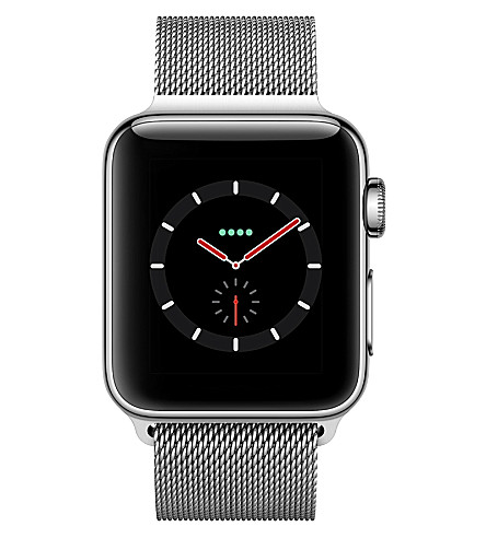 APPLE Series 3 Apple Watch 38 stainless steel (Black+mil
