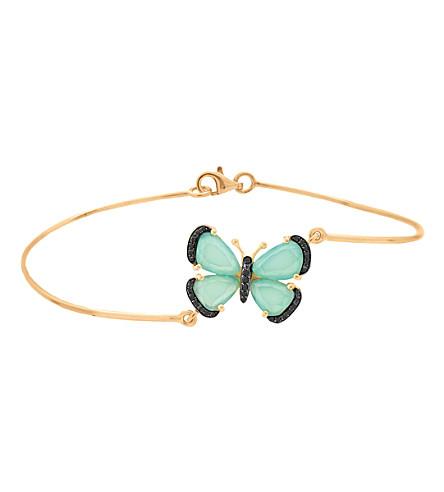CHRISTINA DEBS Wonderland 18ct pink-gold, chalcedony and diamond bracelet