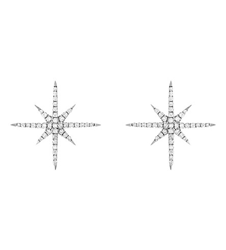 CHRISTINA DEBS Starlight 18ct white-gold and diamond earrings