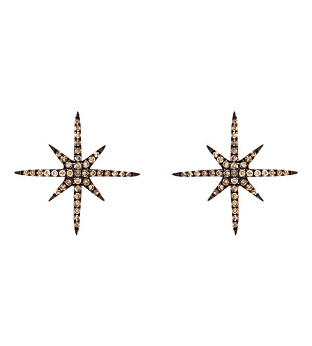 CHRISTINA DEBS Starlight 18ct pink-gold and diamond earrings