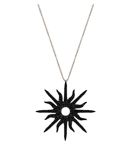 CHRISTINA DEBS Sunshine 18ct white-gold and diamond pendant