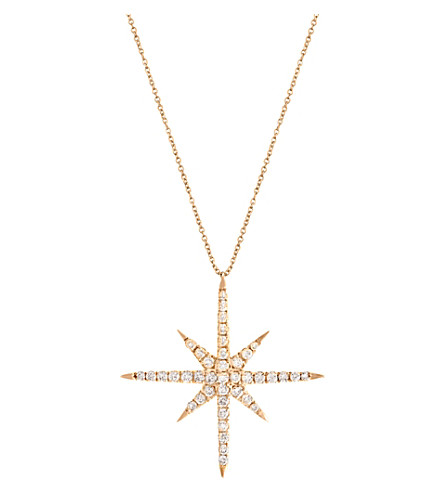 CHRISTINA DEBS Starlight 18ct pink-gold and diamond pendant