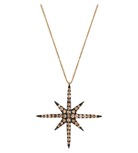 CHRISTINA DEBS Starlight 18ct pink-gold and diamond pendant