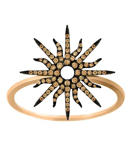 CHRISTINA DEBS Sunshine 18ct pink-gold and diamond ring