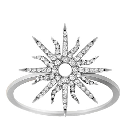 CHRISTINA DEBS Sunshine 18ct white-gold and diamond ring