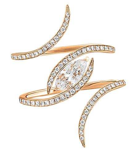 CHRISTINA DEBS Diamond tattoo 18ct pink-gold and diamond ring