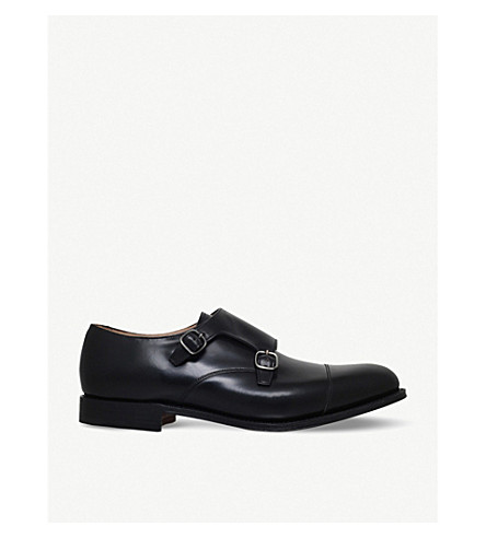 CHURCH Detroit double leather monk shoes (Black